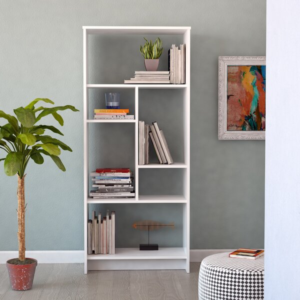 Halley Geometric Bookcase By Union Rustic