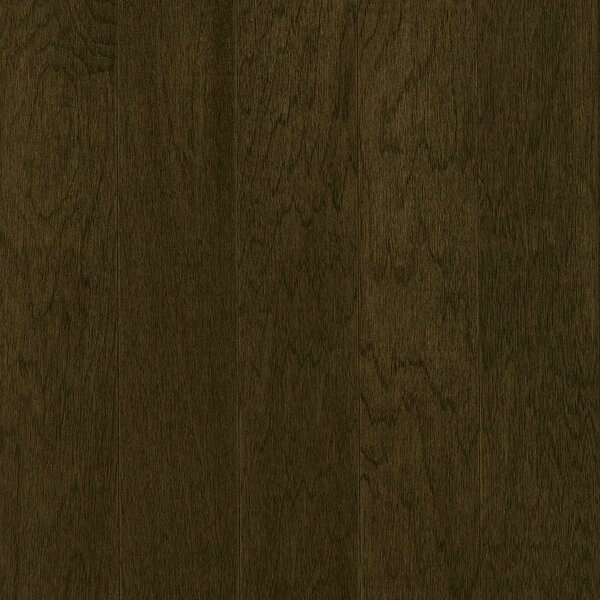 Prime Harvest 5 Solid Hickory Hardwood Flooring in Blackened Brown by Armstrong Flooring