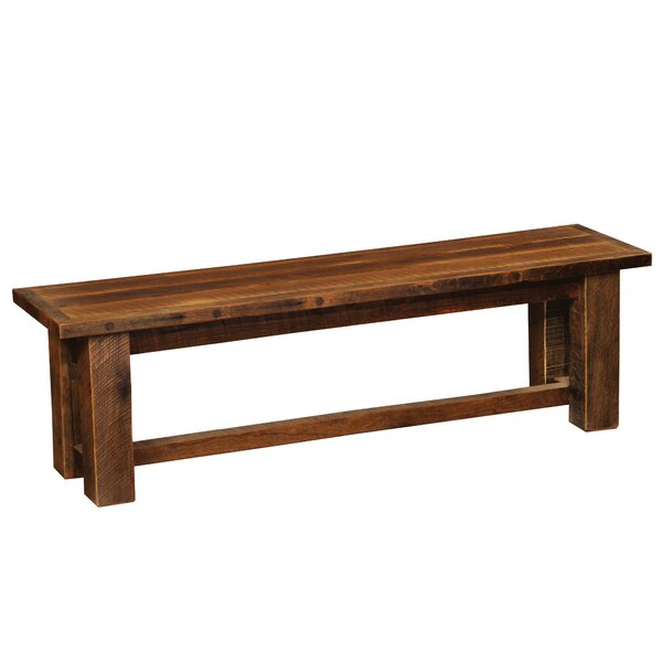 Idalou Wood Bench by Millwood Pines