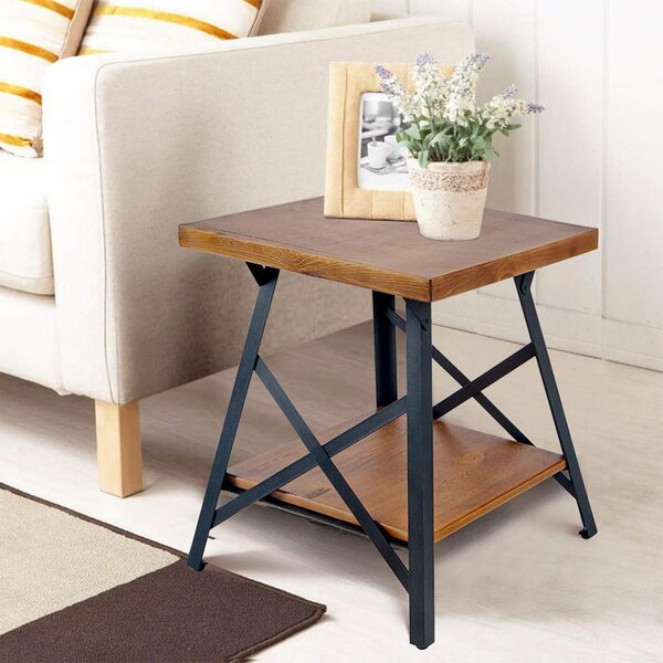 Scarberry End Table Storage by 17 Stories 17 Stories