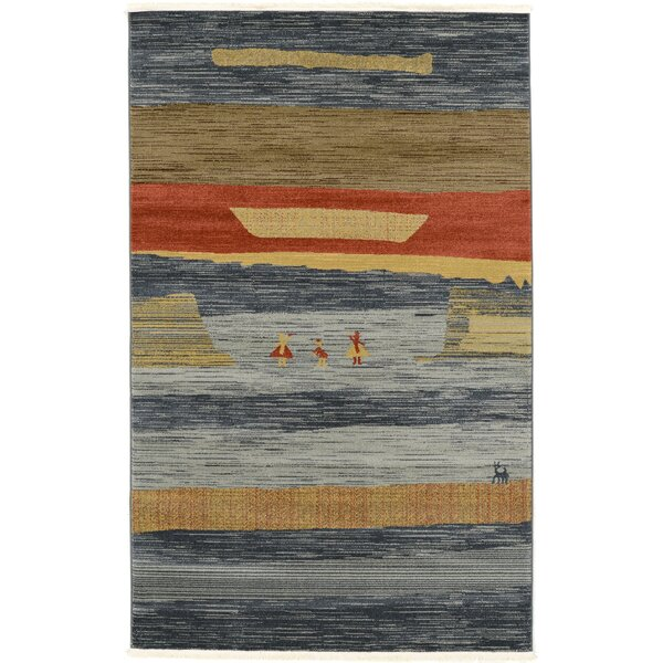 Foret Noire Blue Area Rug by World Menagerie