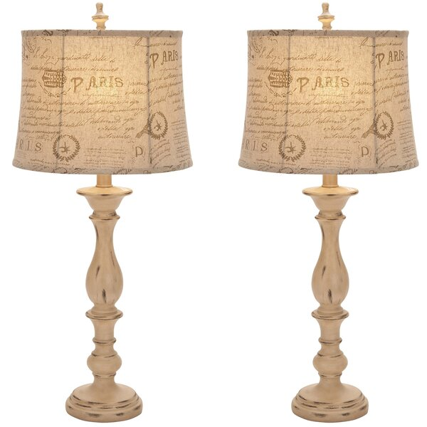 Urban French Connection Candlestick Style 34 Table Lamp (Set of 2) by EC World Imports