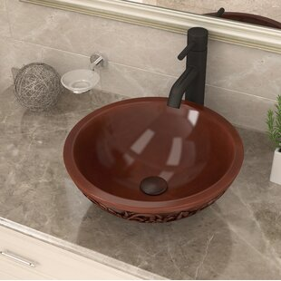 Check Prices Swell Metal Circular Vessel Bathroom Sink By ANZZI