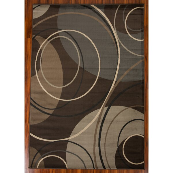 Chase Circle 1610 Brown/Beige Area Rug by Ebern Designs