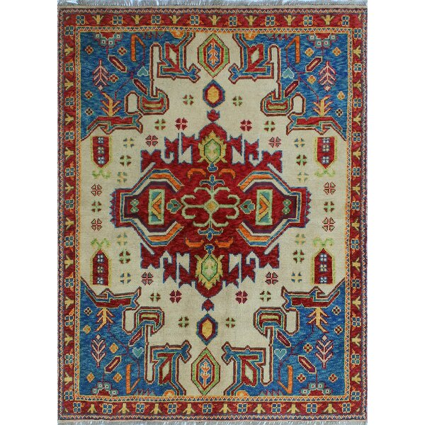 One-of-a-Kind Altoona Hand-Knotted Wool Ivory Area Rug by Isabelline
