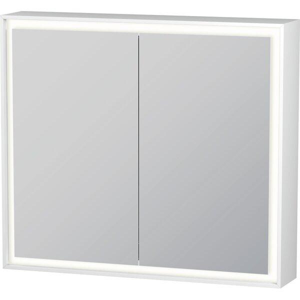 L-Cube Surface Mount Framed 2 Door Medicine Cabinet with LED Lighting