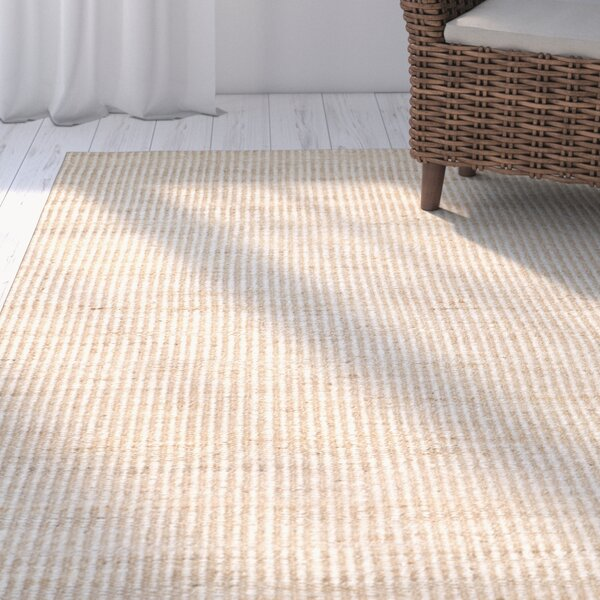 Greene Hand Woven Ivory Area Rug by Beachcrest Home