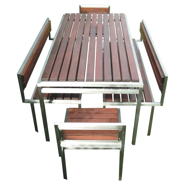 Talt Stainless Steel Garden Bench by Modern Outdoor