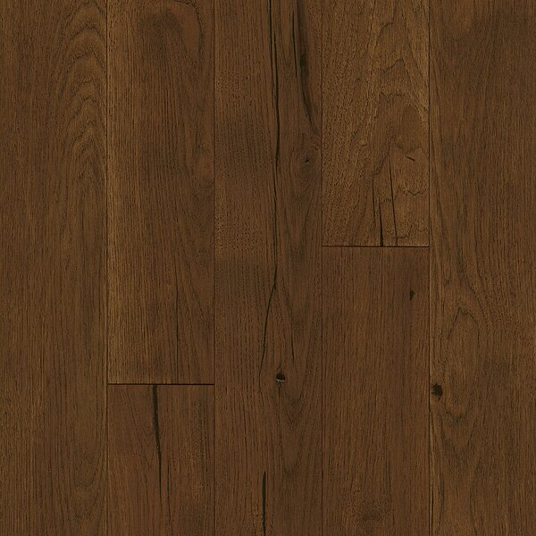 Impressions 5 Engineered Hickory Hardwood Flooring in Deep Etched Garden Brown by Armstrong Flooring