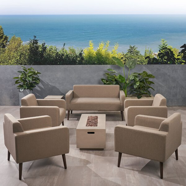 Breckenridge Outdoor 7 Piece Sofa Seating Group With Cushions By Brayden Studio