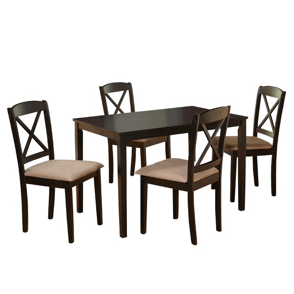 #1 Scarlett 5 Piece Dining Set By August Grove Coupon