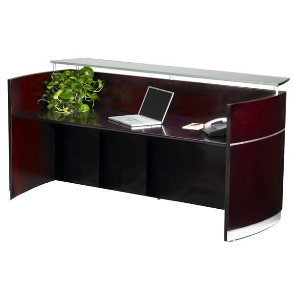 Napoli Rectangular Reception Desk by Mayline Group