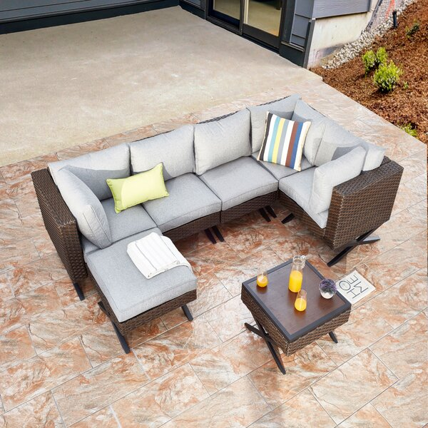 Rimersburg 7 Piece Sectional Seating Group with Cushions