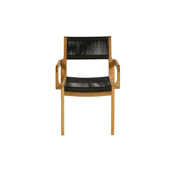 Skagen Stacking Teak Patio Dining Arm Chair by OASIQ OASIQ