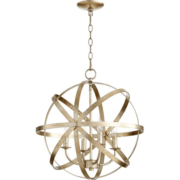 Dian 4-Light Candle Style Globe Chandelier By Willa Arlo Interiors
