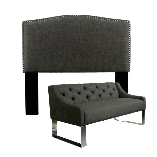 Almodovar Upholstered Panel Headboard and Sofa Bench by Darby Home Co