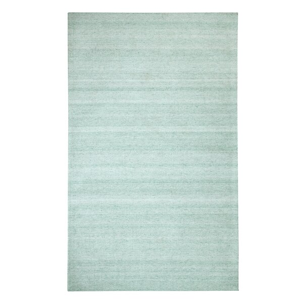 Dacey Hand-Woven Teal Area Rug by Highland Dunes