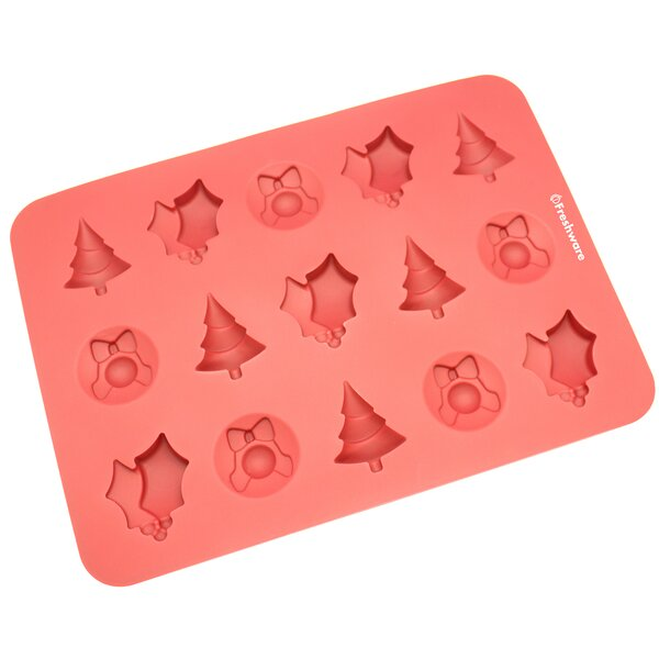 15 Cavity Christmas Silicone Mold Pan by Freshware