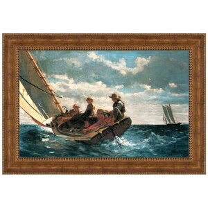 Breezing Up (A Fair Wind), 1876 by Winslow Homer Framed Painting Print by Design Toscano