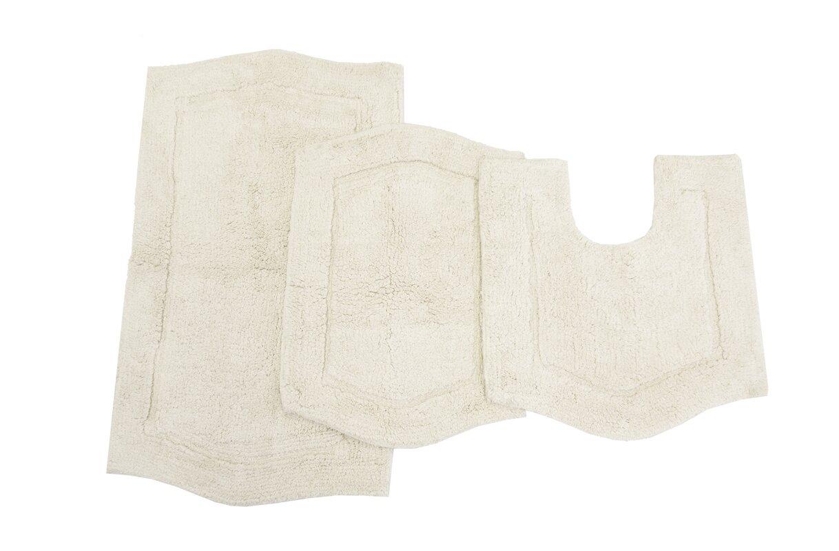 Ess Ess Exports Waterford 3 Piece Bath Rug Set \u0026 Reviews | Wayfair