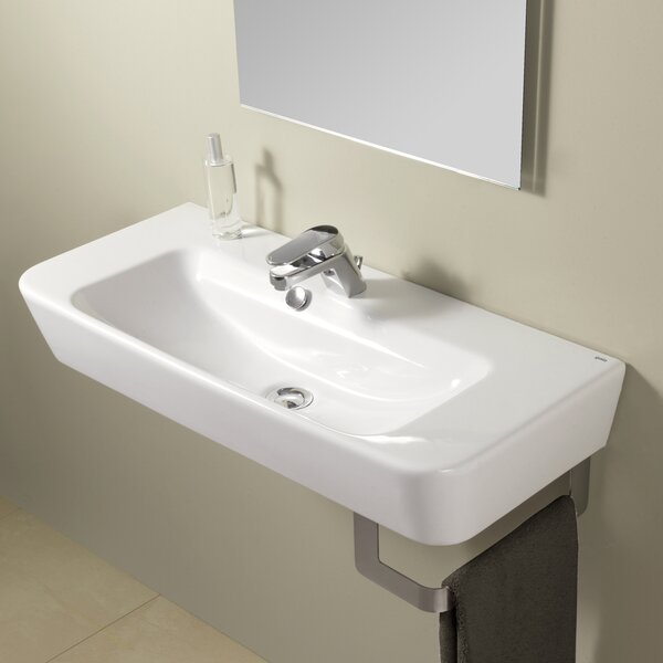 Emma Vitreous China 32 Wall Mount Bathroom Sink with Overflow by Bissonnet