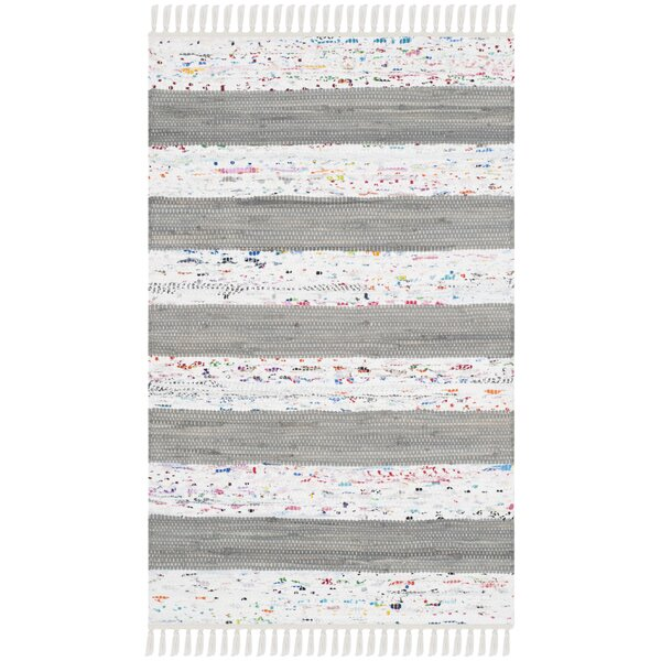 Aureliana Ivory/Gray Area Rug by Highland Dunes