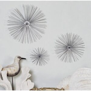 3 Piece Star Metal Wall Decor Set