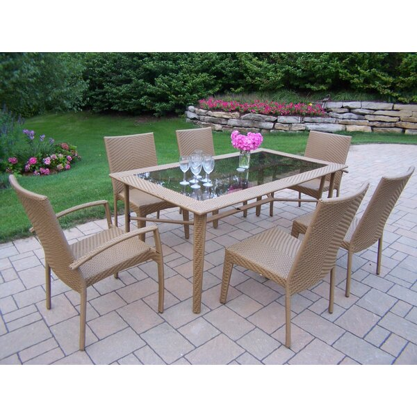 Kingsmill 7 Piece Dining Set by Rosecliff Heights