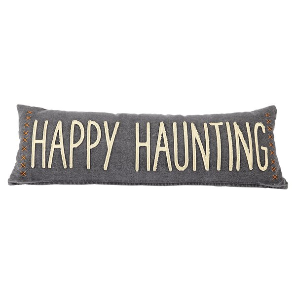 Happy Haunting Halloween Cotton Lumbar Pillow by Mud Pie™