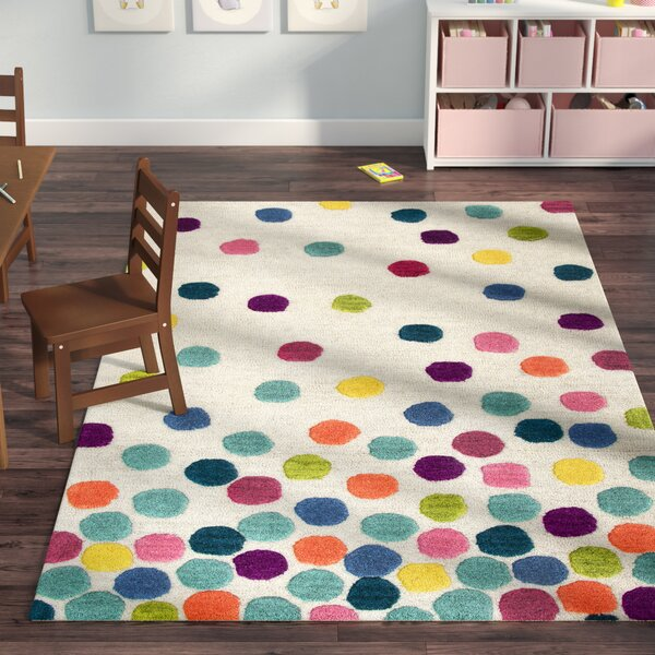 Raquel Hand-Tufted Blue/Green Kids Rug by Viv + Rae