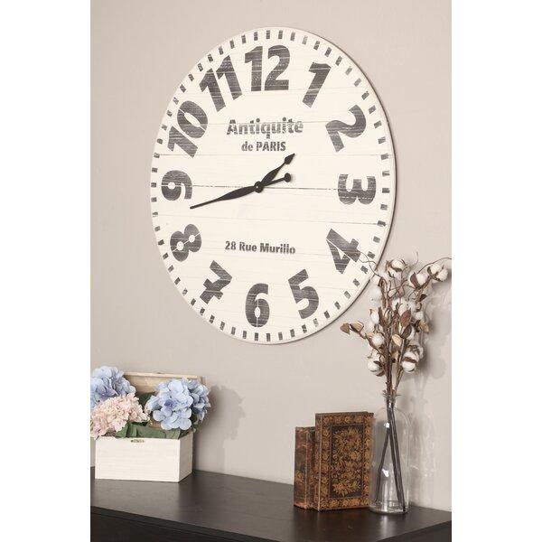 Oversized Marne Antiquite de Paris Wall Clock by Ophelia & Co.