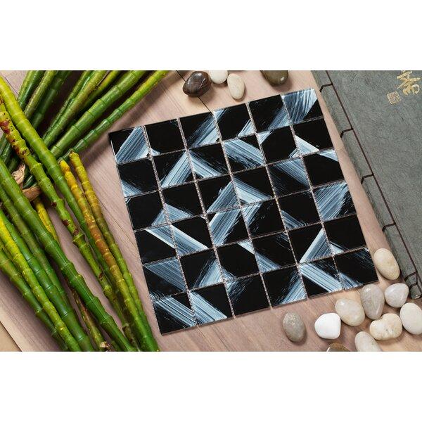 Stella 12 x 12 Glass Mosaic Tile in Black/White by Mirrella