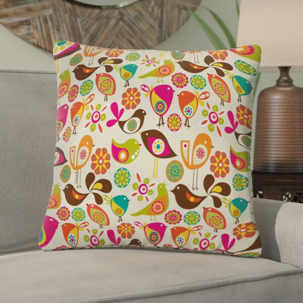 Valentina Ramos Little Birds Throw Pillow by Bungalow Rose