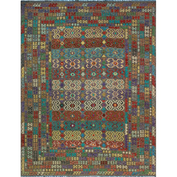 One-of-a-Kind Renita Kilim Hand-woven Wool Brown/Blue Area Rug by Isabelline