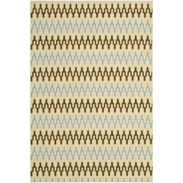 Kelston Ivory Outdoor Area Rug by Brayden Studio