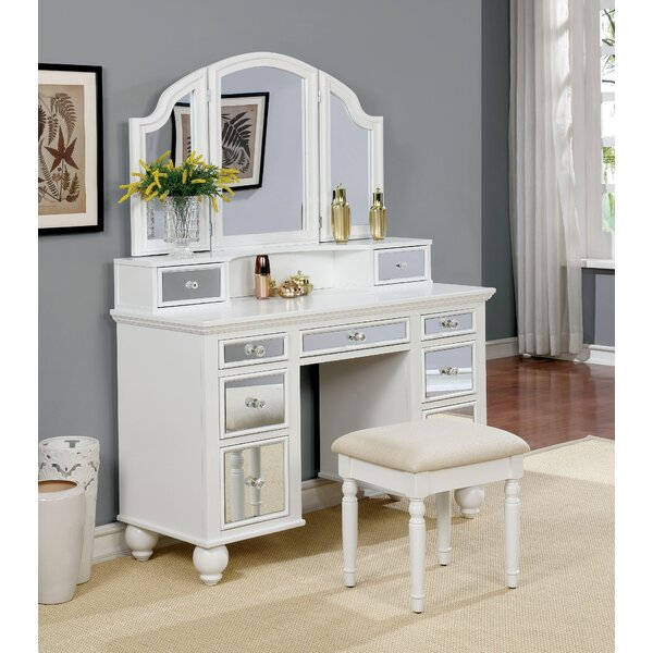 Galento Transitional Vanity Set with Mirror by Rosdorf Park Rosdorf Park
