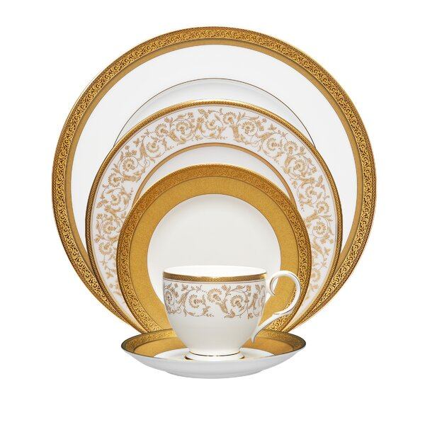 Summit 5 Piece Bone China Place Setting Set, Service for 1 by Noritake