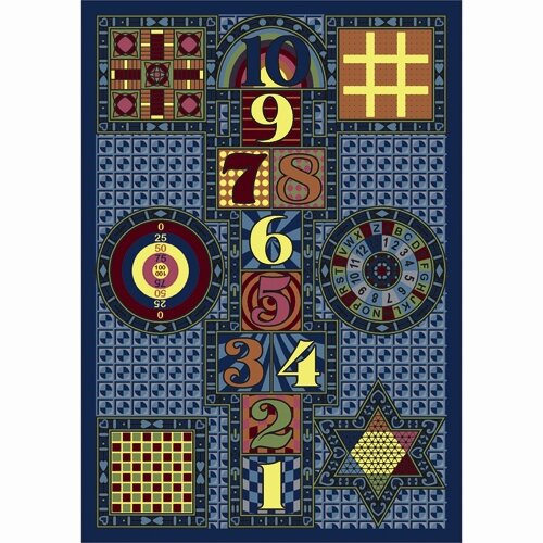 Joy Games Navy Area Rug by The Conestoga Trading Co.