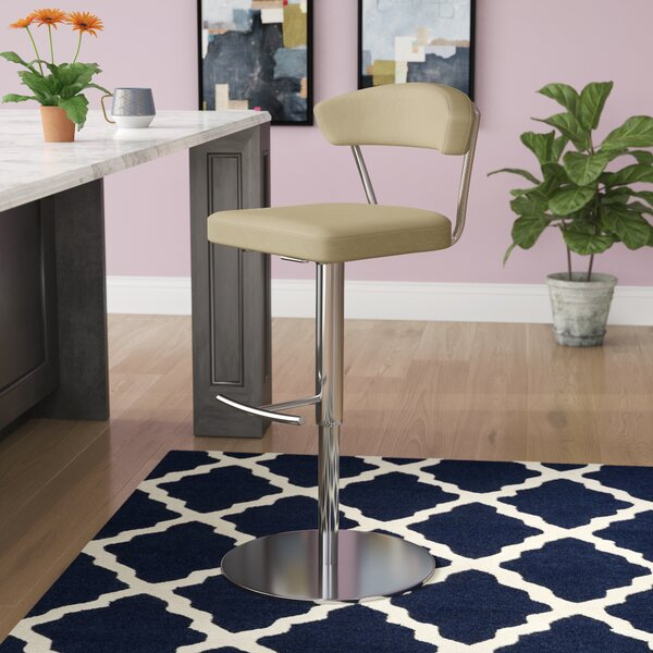 Viviana Adjustable Height Bar Stool by Wade Logan