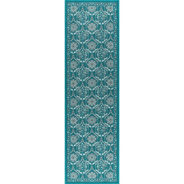 Ashbrook Teal Area Rug by Charlton Home