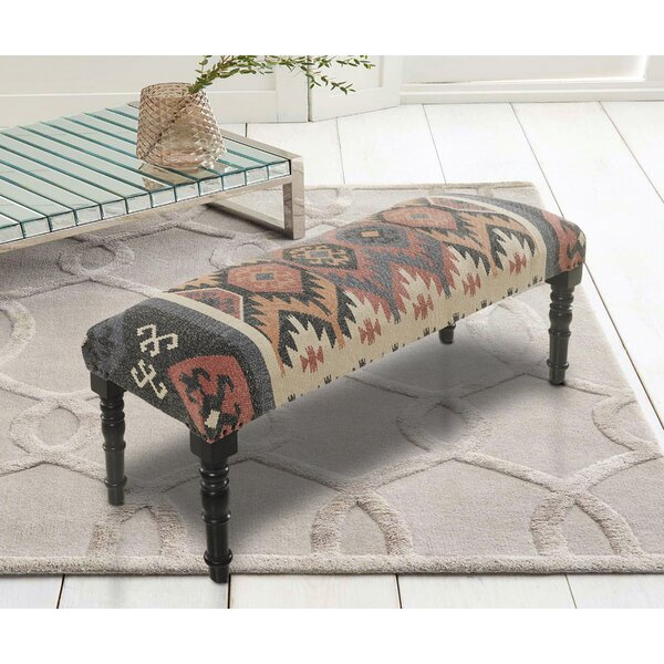 Taja Upholstered Bench By Millwood Pines by Millwood Pines Looking for