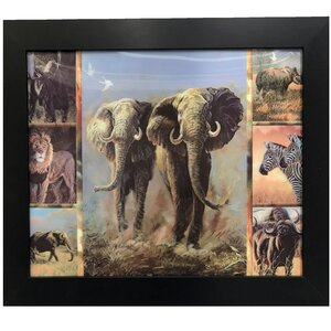 '3D Image with Animals Kingdom' Framed Graphic Art Print by Zoomie Kids