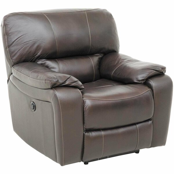 Leather Power Recliner by Winston Porter