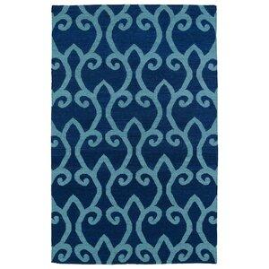 Gillespie Blue Oriental Geometric Area Rug