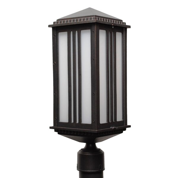 Petrey 1 Light 19.5 Cast Aluminum Post Lantern by Alcott Hill