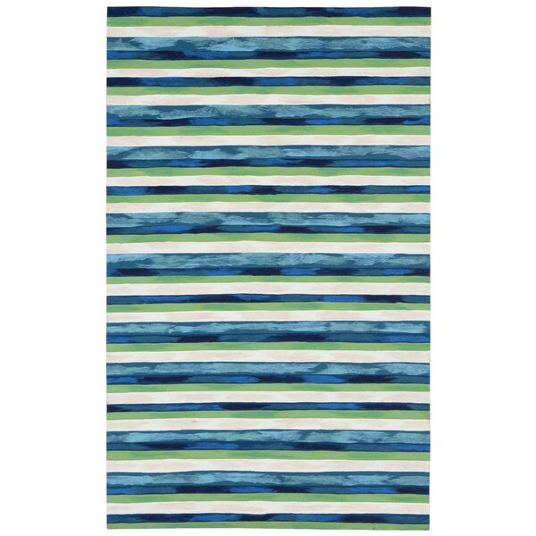 Hugo Hand-Woven Blue/Green Indoor/Outdoor Area Rug by Highland Dunes