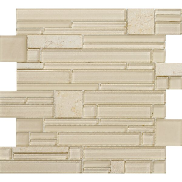 Entity Glass/Stone Mosaic Tile in Life by Emser Tile