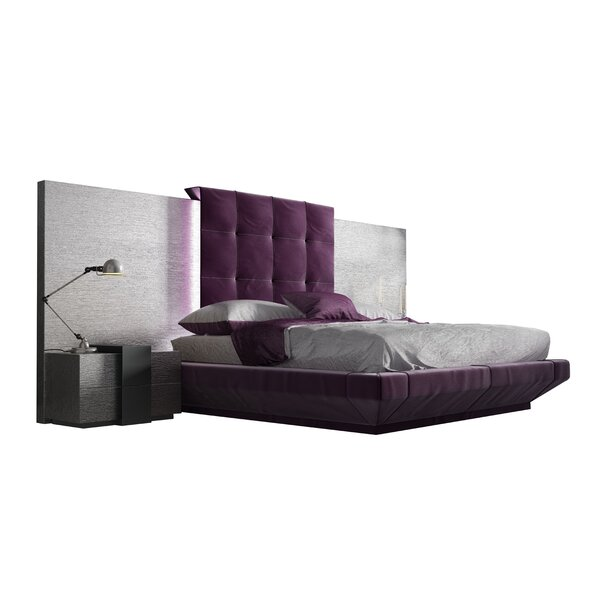 Jerri Queen Platform 4 Piece Bedroom Set By Everly Quinn by Everly Quinn Today Sale Only
