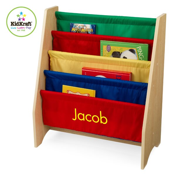 Personalized Primary Sling 4 Compartment Book Display by KidKraft