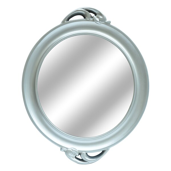 Round Silver Wall Mirror by Darby Home Co